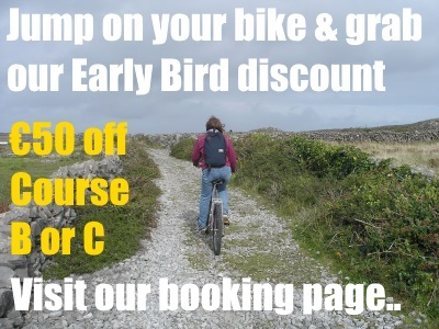 Girl cycling Website edition - Early Bird Discount - Colaiste O'Direain Irish Summer School - Gaeltactht - Aran Islands Galway